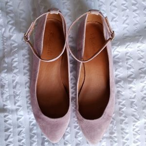 Madewell Suede Ankle Strap Shoe